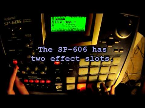 Showing some functions of the Roland SP-606 phrase sampler