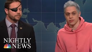 Dan Crenshaw Lends Helping Hand To Pete Davidson | NBC Nightly News - NBCNEWS