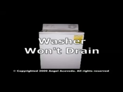 GE front serviceable washer not draining
