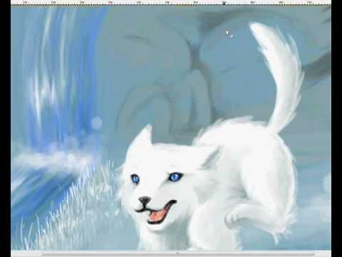 white wolf (gimp speed paint)