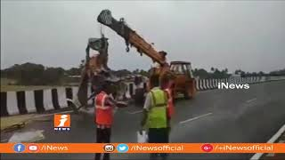 Morning Star Travels Bus Hits Parked Lorry at Bodduvaripalem | 26 Wounded | Nellore | iNews - INEWS