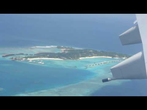 Landing at Male Maldives Airport