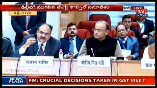 Arun Jaitley Speaks to Media After GST Council meeting | CVR News - CVRNEWSOFFICIAL