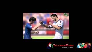 Messi y Cristiano, a las trompadas en pleno partido