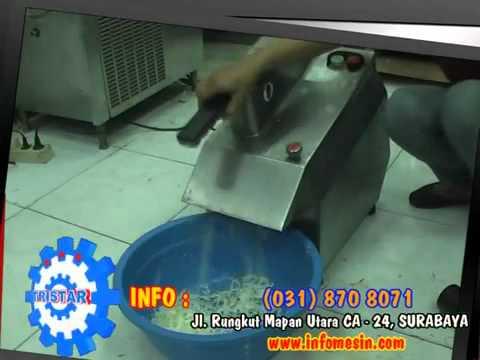 Cara Memotong Keripik Singkong - Kentang - Gadung - Talas - Bentoel - Ceriping Pisang dengan Mesin.