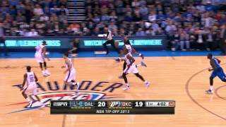 Kevin Durant's Sick Crossover On Vince Carter & Smooth Finish