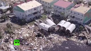 Aerial footage: Hurricane Michael aftermath - RUSSIATODAY