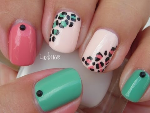Nail Art - Easy and Girly Leopard Nails - Decoracion de Uñas (Featuring Sinful Colors)