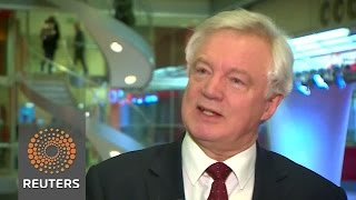 """UK will seek customs deal as """"frictionless"""" as possible - Brexit minister - REUTERSVIDEO"""