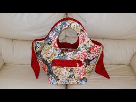 Bolsa/sacola em tecidos Dupla-face - Maria Adna Ateliê - Bolsa/sacola em tecido - Bolsas/Sacolas