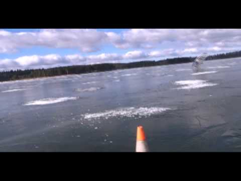 Winter windsurfing, Lithuania, Kaunas