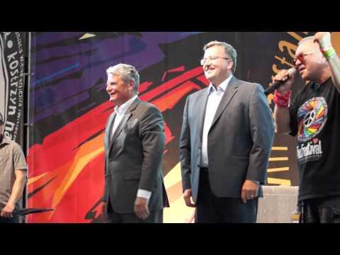 Prezydenci Polski i Niemiec na festiwalu Woodstock 2012