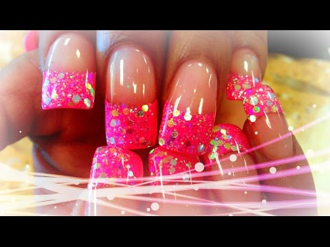 P1 HOW TO GLITTERY ACRYLIC NAIL DESIGNS