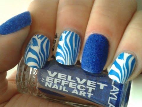 Manicura Cebra terciopelo Layla con truco / Layla Velvet manicure with trick