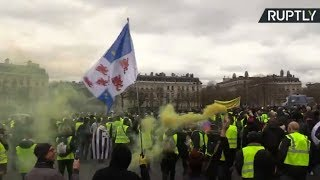 Yellow Vests protest in Paris, Act 18 - RUSSIATODAY
