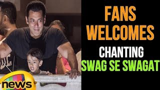 Salman Khan Fans Welcomes Him By Cracking Fireworks And Chanting Swag Se Swagat | Mango News - MANGONEWS