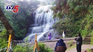 Waterfalls Attracts Tourists In Jayashankar Bhupalpally Dist | TV5 News - TV5NEWSCHANNEL