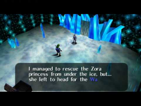 Legend of Zelda Ocarina of Time Walkthrough 09 (4/6) &quot;Ice Cavern: Iron Boots&quot;