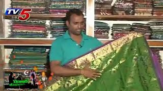 Kanjeevaram Designer sarees : TV5 News - TV5NEWSCHANNEL