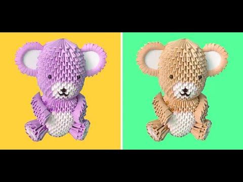 3D Origami Teddy Bear Tutorial - Part 2