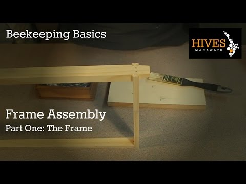 Beekeeping Basics - Beehive frame assembly - Part One: Assembly