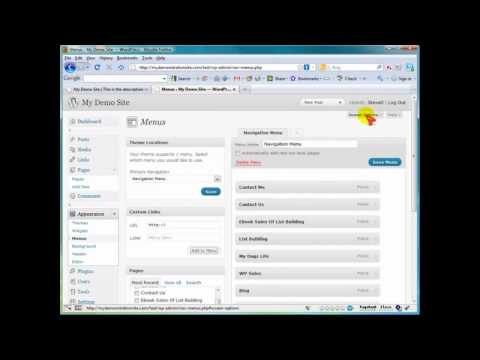 How to Customize Menu in WordPress? (45) Wordpress Video Tutorials
