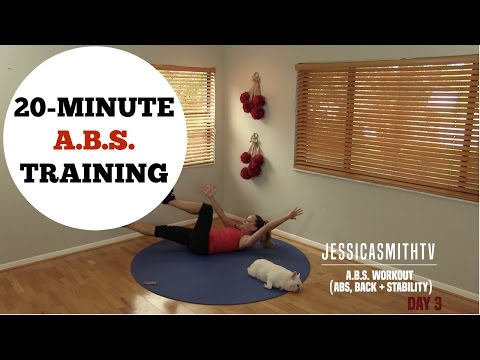 20 Minute Abs, Back, Core Training Full Length Workout - No Equipment Needed