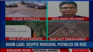 Mumbai Pothole Record: Man launches website, gets help from citizens - NEWSXLIVE