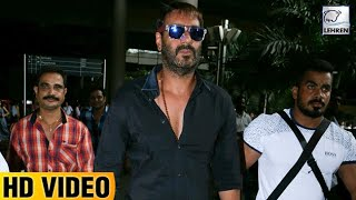 Ajay Devgn Spotted In Rockstar Look At The Airport I Lehren TV