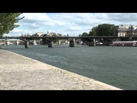 Paris background plate - Pont des Arts and Seine River