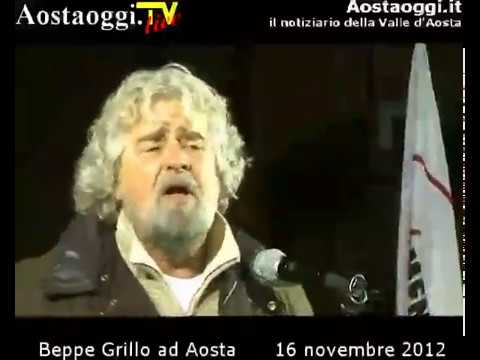 Beppe Grillo ad Aosta 16 Novembre 2012 ore 21.00