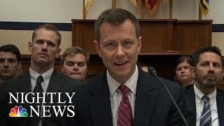FBI Fires Agent Peter Strzok, Who Sent Anti-President Donald Trump Texts | NBC Nightly News - NBCNEWS