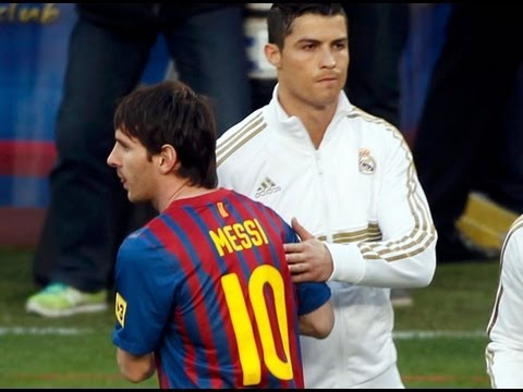 Messi Evita Saludar a C. Ronaldo Real Madrid vs Galatasaray 3 0 2013
