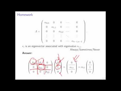 12.3.1 Eigenvalues and Eigenvectors of n x n matrices: Simple Cases Part 2