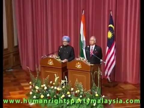 India Press Grills Najib Razak on discrimination of Malaysian Indian poor.