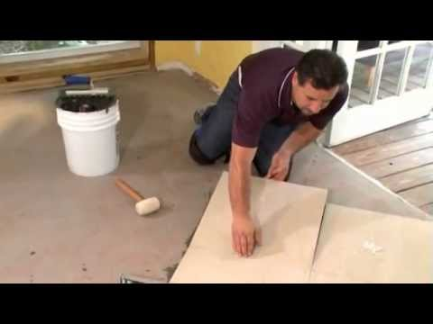 Installing a Large-format Tile Floor - Part Two - Tiling a large-format floor