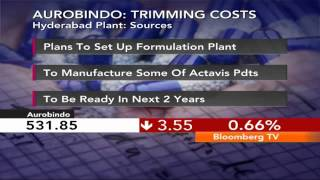Market Pulse- Aurobindo To Set Up Exclusive Hyd Plant - BLOOMBERGUTV