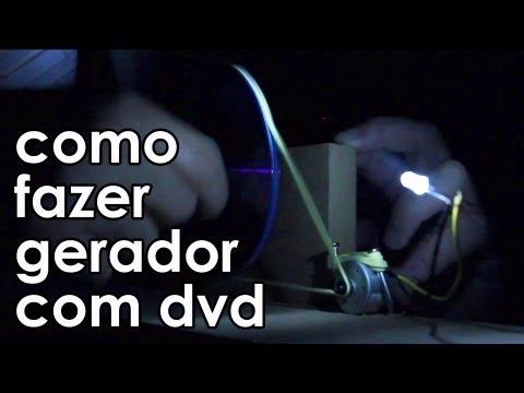 Como fazer um gerador (de verdade) com um DVD player (experiência)