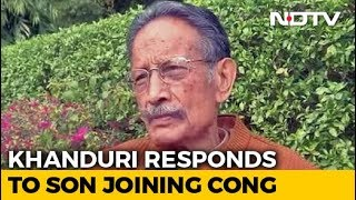 """Why The Fuss?"" BJP's BC Khanduri As Son Joins Uttarakhand Congress - NDTV"