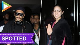 Ranveer Singh, Sara Ali Khan return from Switzerland Simmba shoot - HUNGAMA