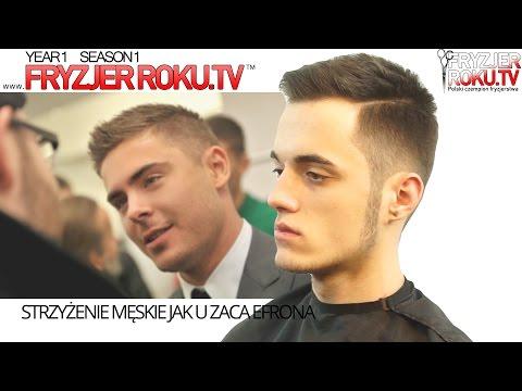 Strzyżenie męskie jak u Zaca Efrona. FryzjerRoku.tv