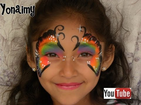 MARIPOSA MULTICOLOR ( PINTACARITAS ).- FACE PAINTING BUTTERFLY.