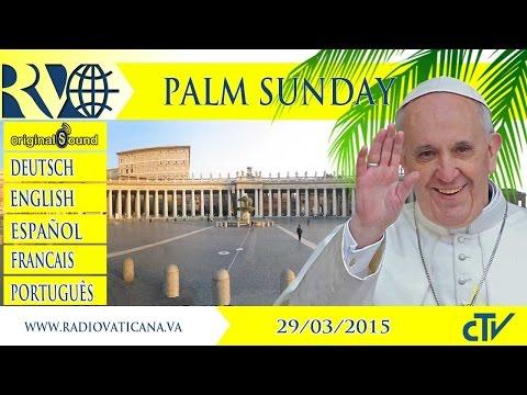 Palm Sunday celebration and Angelus - 2015.03.29