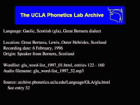 Gaelic, Scottish audio: gla_word-list_1997_32