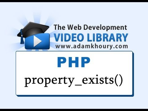 PHP Tutorial - property_exists() Class Object Oriented Programming OOP