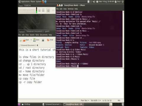 basic linux commands -U0YQtbVdjbQ