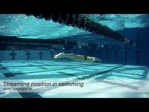 Streamline position in swimming