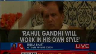 Rahul will be able to re-energise party, says Sonia Gandhi's former political secretary Ahmed Patel - NEWSXLIVE