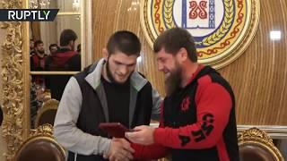 Kadyrov makes Khabib honorary citizen of Grozny - RUSSIATODAY