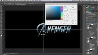 The Avengers Text Effect In Photoshop